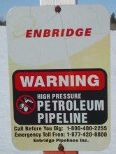 Enbridge Line 9 Sign