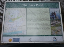 Info board at Mac Johnson Conservation Area near Brockville