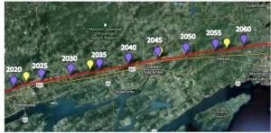 Belleville to Kingston - 2020-2060