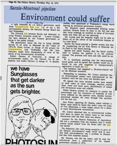 Environment Could Suffer - The Citizen (Ottawa) May 16 1974