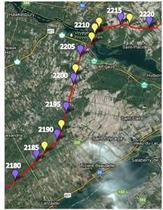 Lancaster to Quebec Border - 2180-2220