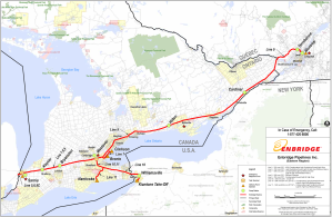 Enbridge 9B pipeline map